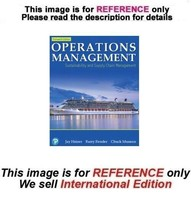 Operations Management: Sustainability and Supply Chain Management, 13th ... - $44.90