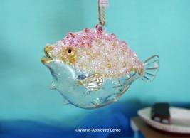 Pottery Barn Glass Blowfish Ornament -NIB- Perfect For Making Maritime Merry! - $24.95