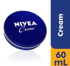 60 mL / 2.0 oz NIVEA CREAM Original Skin Hand CREME moisturizer Metal Ti... - $4.84