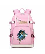 Legend of zelda kid backpack schoolbag bookbag daypack pink large bag b thumbtall