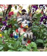 Evil Cat Garden, Dwarf Miniature, Garden supplies, Figurines, Gnome for ... - $25.90