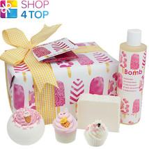 Ice Cream Queen Gift Pack Vanilla Coconut Handmade Natural Bomb Cosmetics New - $23.55