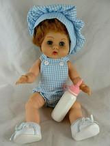 "Vintage Vogue 12"" Blond Blue Eyed Ginny Baby Doll Drnk & wet dressed w h... - $25.33"