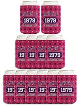 40th Birthday Gift Coolie Made 1979 Can Coolies 12 Pack Can Coolie Drink... - £28.85 GBP