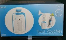 Kiinde Breast Milk Storage Twist Pouch (6 oz  Pack of 80) Universal pouc... - $12.59