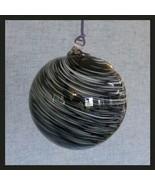 """Hanging Glass Ball 4"""" Diameter Black and White Swirl Friendship Ball HB51-2 - $13.86"""