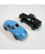 Vintage Black Tootsie Toy Chevy Step-Side Pickup Truck and Baby Blue Por... - $7.99