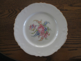 Vintage 22KT  Gold Trimmed Flowered Dish by Cun... - $7.66