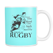Rugby Mug Suck It Up Buttercup And Play Rugby White Gift Coffee Mug - $15.95+