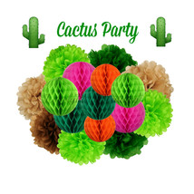 Cactus Party Decoration - Hanging Decoration - $39.00