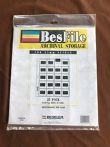 BESFILE  25 PAGES for 35 mm SLIDES  ULTRA CLEAR ARCHIVAL STORAGE Pages - $13.86