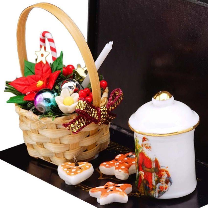 Christmas House Decorations 1.884/6 Reutter Basket Cookie Jar DOLLHOUSE Miniatur - $25.80