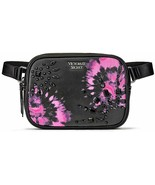 Victoria's Secret V-Quilt Oval City Belt Bag Color Black & Pink NWT - $32.71