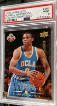 2008-09 Upper Deck Russell Westbrook RC Electric Court GOLD PSA 9 Mint - $399.99