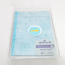 Hallmark Blue Fishbowl Blank Notes or Invitations With Accessories & Envelopes - $7.76