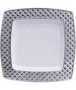 "Diamond Collection Elegant China-like Disposable Plates, 9.75"", White an... - $39.99"