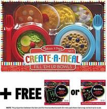 Fill 'Em Up Bowls: Create-A-Meal Play Set + FREE Melissa & Doug Scratch Art Mini - $29.45