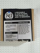 K-Cup K001-4 Coffee Filters for 1.0 & 2.0 Machines Purple (4-Pack) - NEW - $11.39
