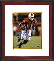 Sinorice Moss signed Miami Hurricanes 8x10 Photo Custom Framed- Moss Hol... - $69.00
