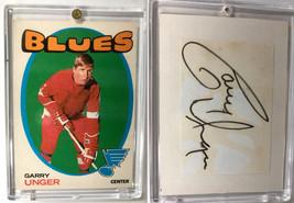 Gary Unger St. Louis Blues Vintage Paper Cut Card + Autograph  - £6.70 GBP
