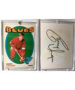 Gary Unger St. Louis Blues Vintage Paper Cut Card + Autograph  - $9.15