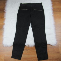 Victoria's Secret Women's Casual Pants Solid Black Skinny Leg Zip Pockets Size 6 - $17.75