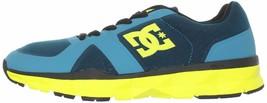 DC Shoes Uomo 'S Unilite Elastico Sportivo Blu Giallo Corsa Scarpe 7 USA Nib image 2