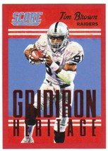 2015 Panini Score Gridiron Heritage Red #23 Tim Brown Raiders NM-MT - $4.23