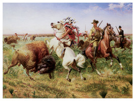 1343 Hunt painting wall Art Decoration POSTER.Graphics to decorate home ... - $10.89+