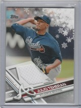 2017 Topps Holiday - Wal-Mart Exclusive Relics #R-JTE Julio Teheran - $1.00
