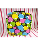 MoD Vintage Colorful Pop Art 1960's Vinyl Train or Vanity Case Suitcase ... - $28.00