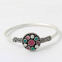 92.5 Sterling Silver Handmade Traditional Flexible Kada Fine Jewelry Fre... - $35.63