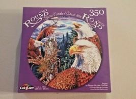 Cra-Z-Art Eagles Round Jigsaw Puzzle 350 Pcs Eagles Nest New - $6.93