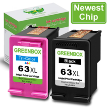Newest Chip GREENBOX Re-Manufactured Ink Cartridge Replacement for HP 63... - $43.46