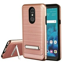 Rose Gold Brushed Carbon Fiber Accent Hybrid Cover for LG Stylo 4 Plus/S... - $11.07