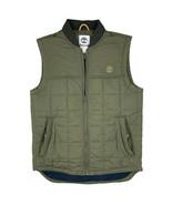 Timberland Men's Puffer Poly Fill Olive Green Lightweight Vest A1O7B - $69.99