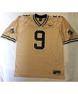 Purdue Boilermakers #9 Football Gold Nike Jersey Mens Large L LG Printed... - $34.60