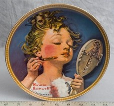 "Knowles Norman Rockwell Collectible Plate ""Making Believe At The Mirror""... - $9.89"