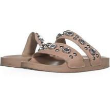 Steve Madden Shinin Rhinestone Slip On Sandals 420, Blush, 9 US - $18.23