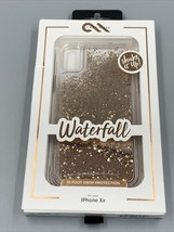 Case-Mate iPhone Waterfall Gold Glitter for iPhone Xr Apple - New! - $11.39