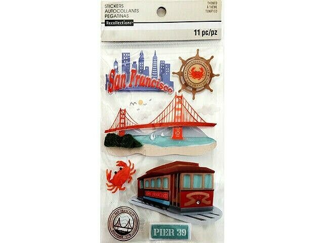 Recollections San Francisco Dimensional Stickers #172255