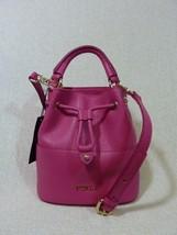 NWT FURLA GLOSS Pink Leather Mini Brooklyn Bucket Tote Bag - Made in Italy - $235.61