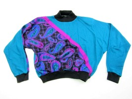 The American Collection Color Block Sweater Retro Vintage 90s Style M Tu... - $29.65