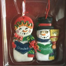 "American Greetings Grandma Grandpa Snowman Ornament 3""  New Old Stock Vt... - $10.64"