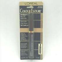 Loreal Colour Endure Mascara Soft Black Smudgeproof NOS .24 Fl Oz Sealed HTF FR - $19.95