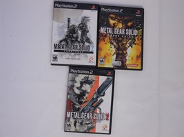 METAL GEAR SOLID 2 SONS OF LIBERTY SUBSTANCE  SNAKE EATER 3  PS2 Playsta... - $27.69