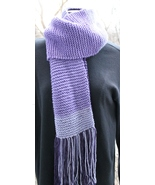 Purple Shades Hand-Knit Scarf - $15.00