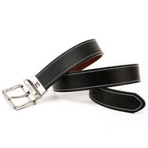 Tommy Hilfiger Men's Reversible Contrast Stitching Leather Belt 11TL08X009 image 2
