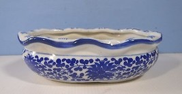 Vintage Retired Porcelain Bonsai Pot circa late 1900s Floral Motif Unuse... - $690,34 MXN