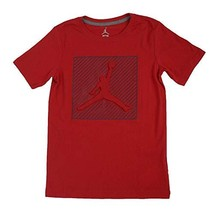 Jordan Big Boys' Graphic-Print Cotton Basketball T-Shirt L12-13YRS, Red - $76.25